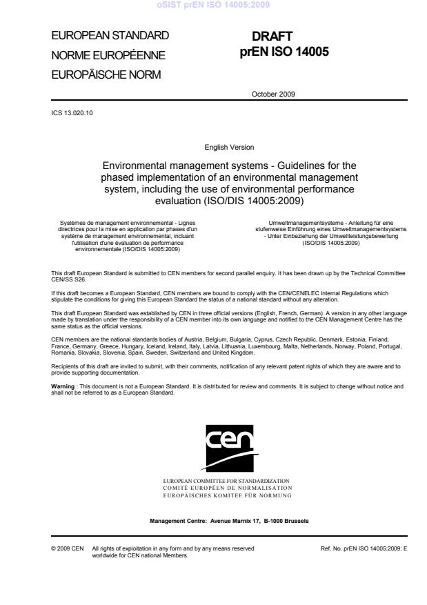 prEN ISO 14005:2009 (november)