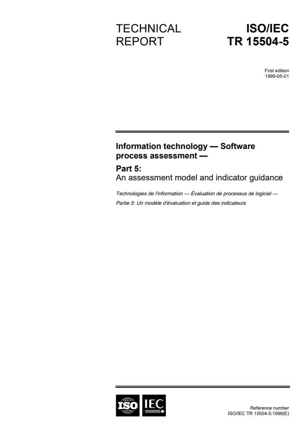 ISO/IEC TR 15504-5:1999 - Information technology -- Software Process Assessment