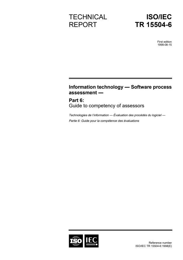 ISO/IEC TR 15504-6:1998 - Information technology -- Software process assessment