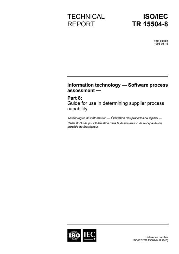 ISO/IEC TR 15504-8:1998 - Information technology -- Software process assessment