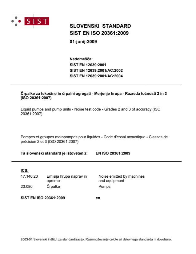 EN ISO 20361:2009