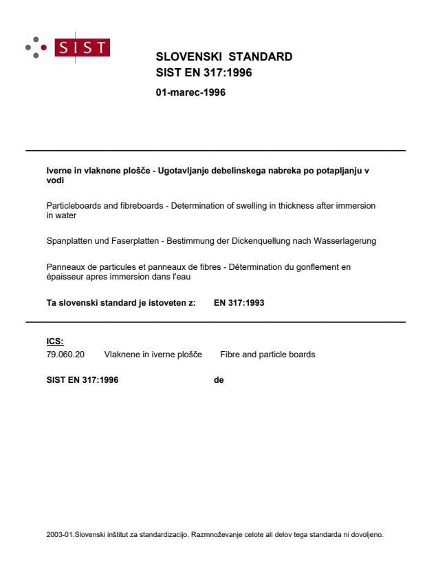 EN 317:1996 (DE)