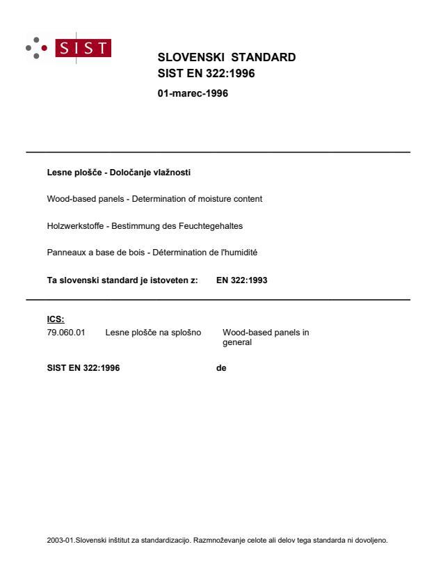 EN 322:1996 (DE)