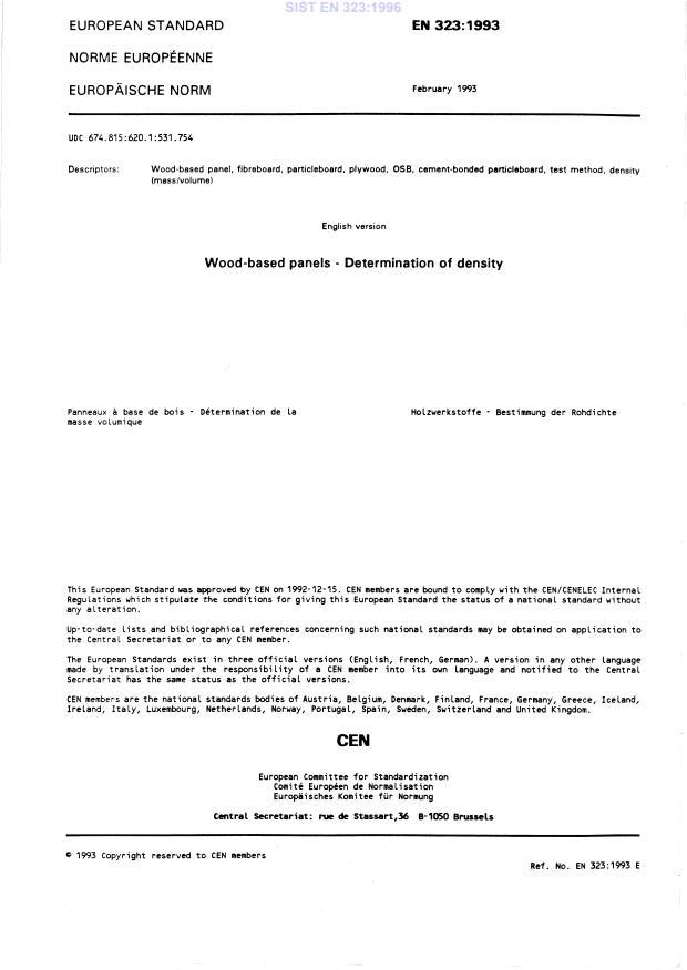 EN 323:1996