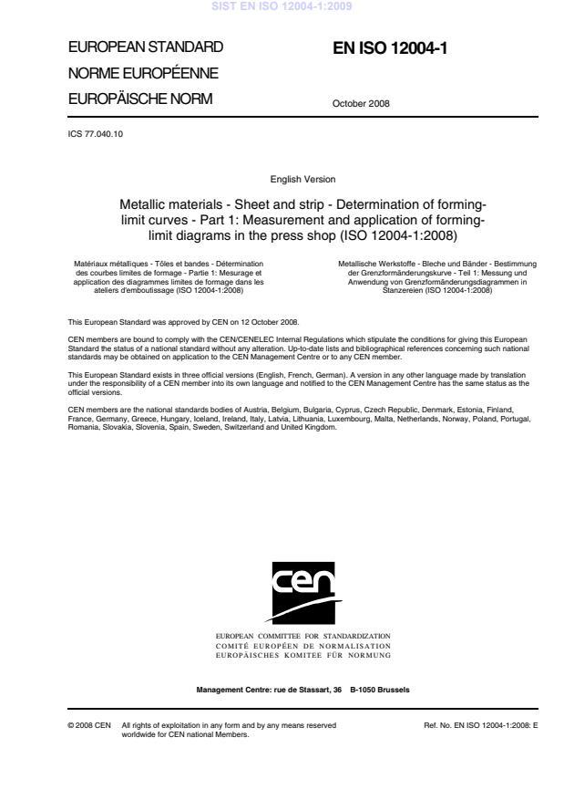 SIST EN ISO 12004-1:2009