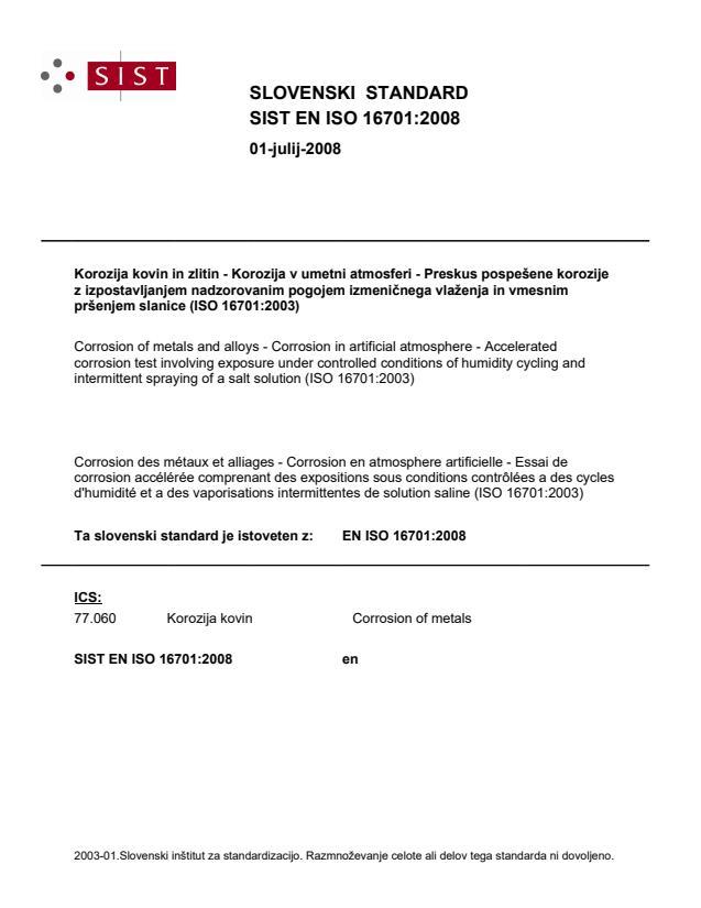 SIST EN ISO 16701:2008