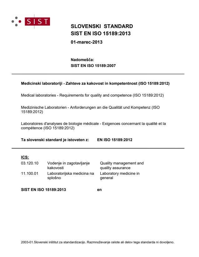 EN ISO 15189:2012