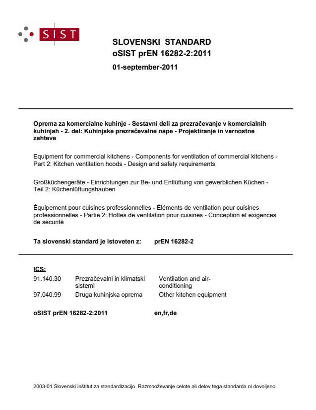 prEN 16282-2:2011