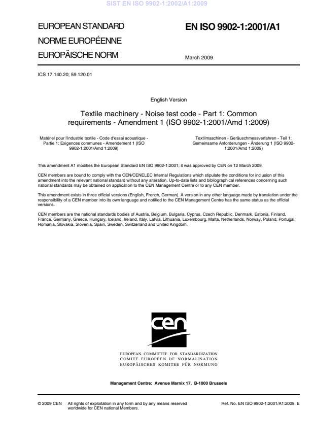 SIST EN ISO 9902-1:2002/A1:2009