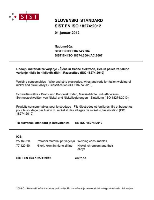 SIST EN ISO 18274:2012