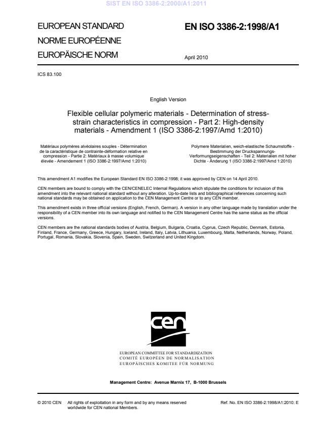 EN ISO 3386-2:2000/A1:2011