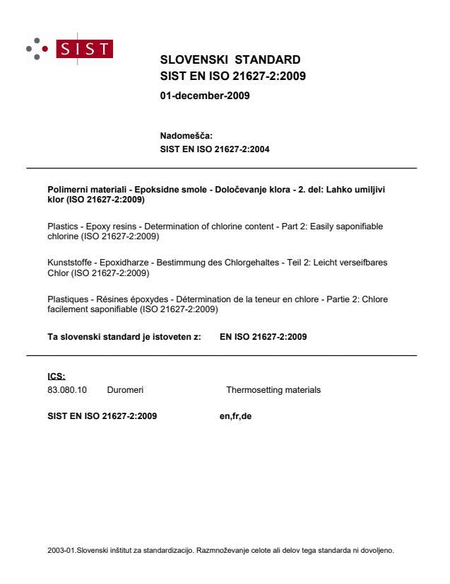 SIST EN ISO 21627-2:2009