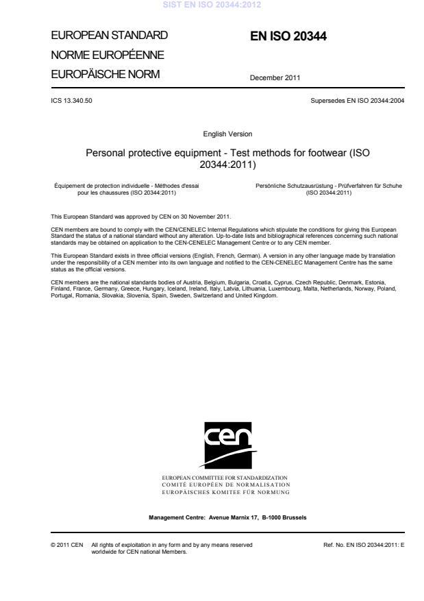 EN ISO 20344:2011