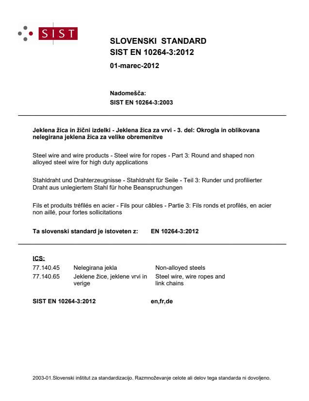 SIST EN 10264-3:2012