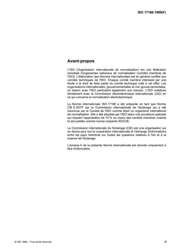 ISO 17166:1999 - Spectre d'action érythémale de référence et dose érythémale normalisée