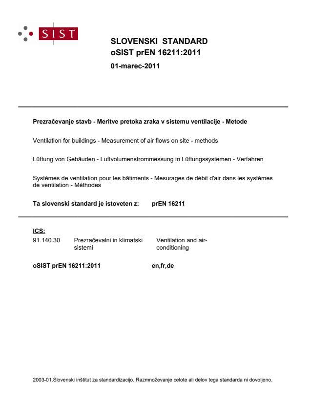 prEN 16211:2011