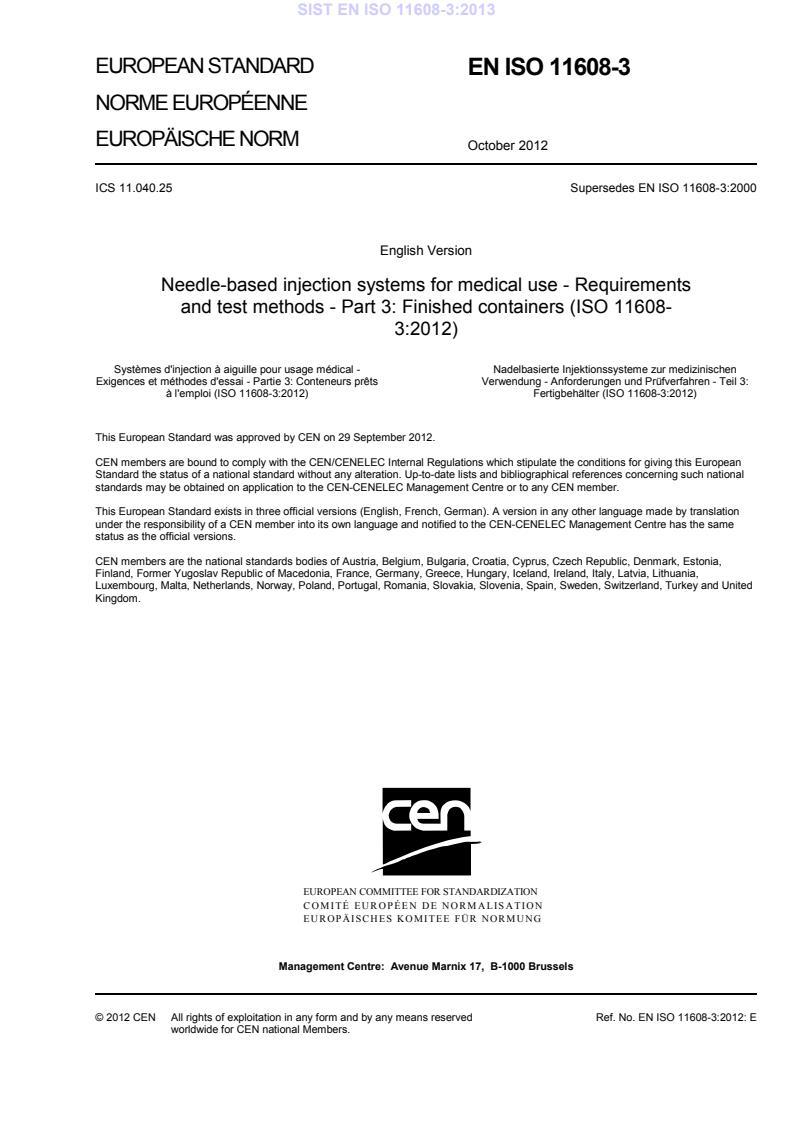 EN ISO 11608-3:2013