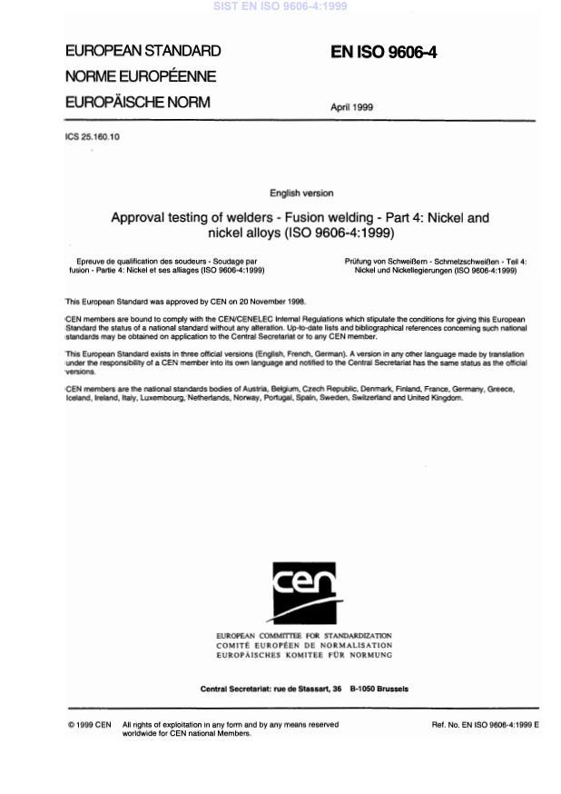 SIST EN ISO 9606-4:1999