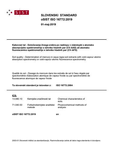 oSIST ISO 16772:2019