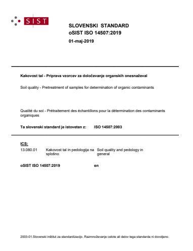 oSIST ISO 14507:2019