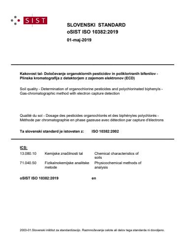oSIST ISO 10382:2019