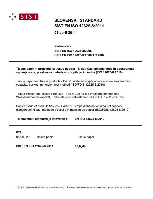SIST EN ISO 12625-8:2011