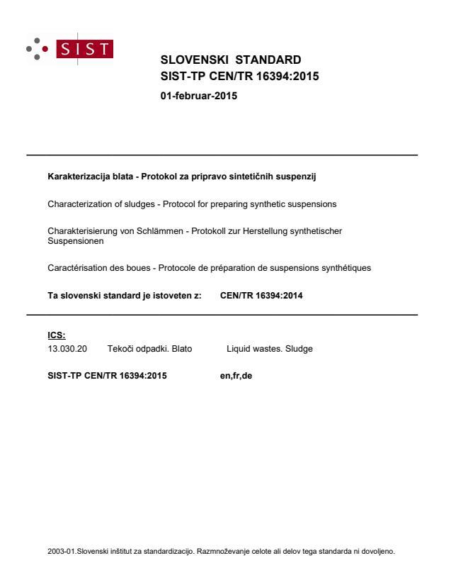 SIST-TP CEN/TR 16394:2015