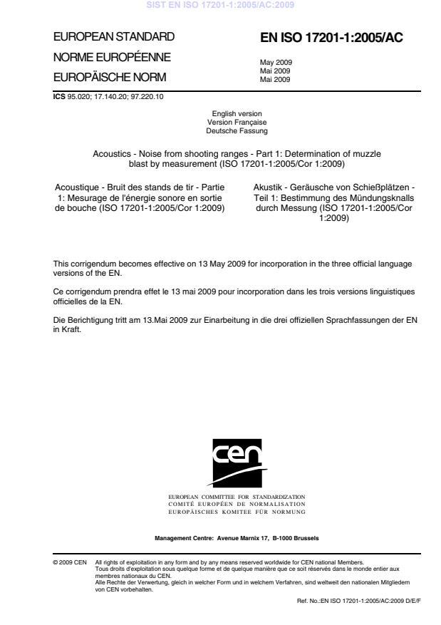 EN ISO 17201-1:2005/AC:2009