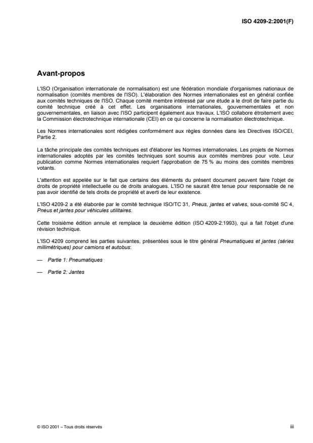 ISO 4209-2:2001 - Pneumatiques et jantes (séries millimétriques) pour camions et autobus