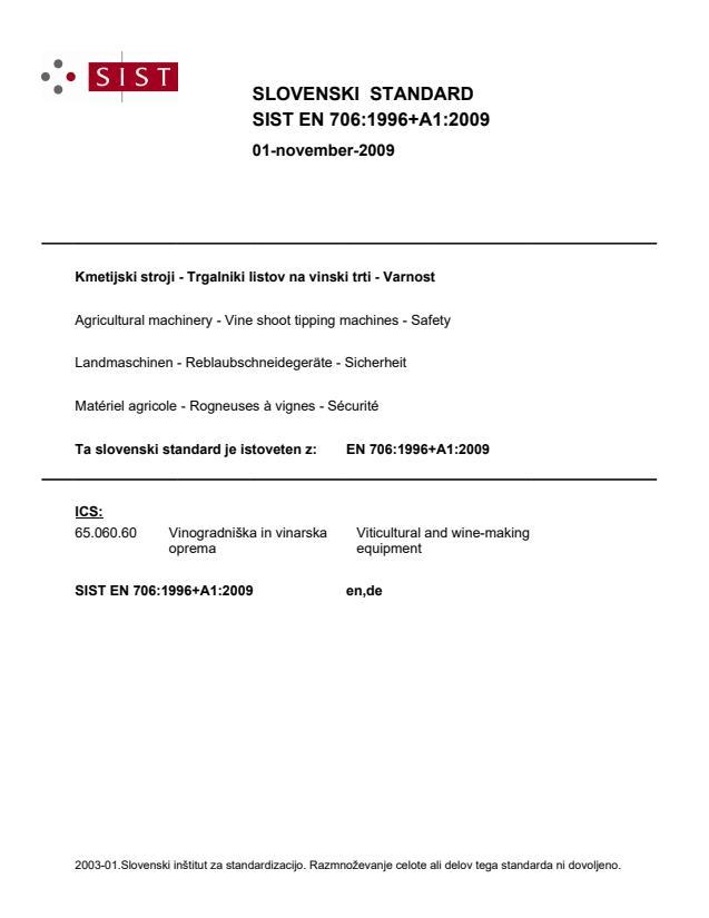 EN 706:1996+A1:2009