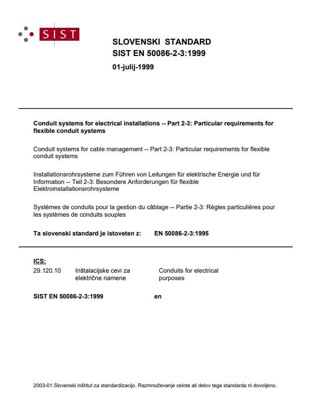 EN 50086-2-3:1999