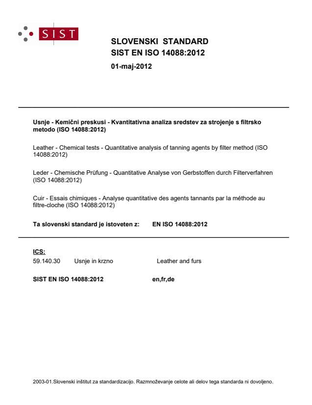 EN ISO 14088:2012