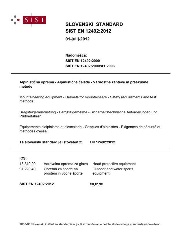 EN 12492:2012