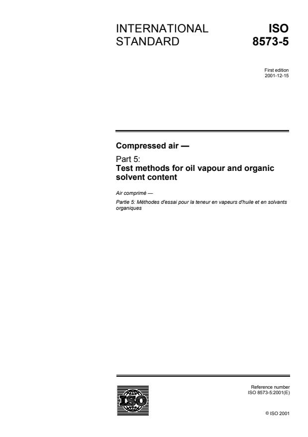ISO 8573-5:2001 - Compressed air
