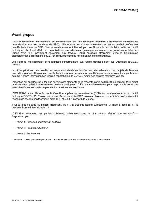 ISO 9934-1:2001 - Essais non destructifs -- Magnétoscopie