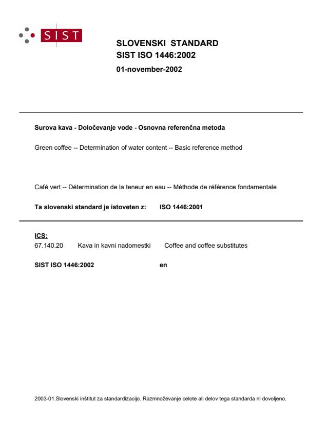 SIST ISO 1446:2002
