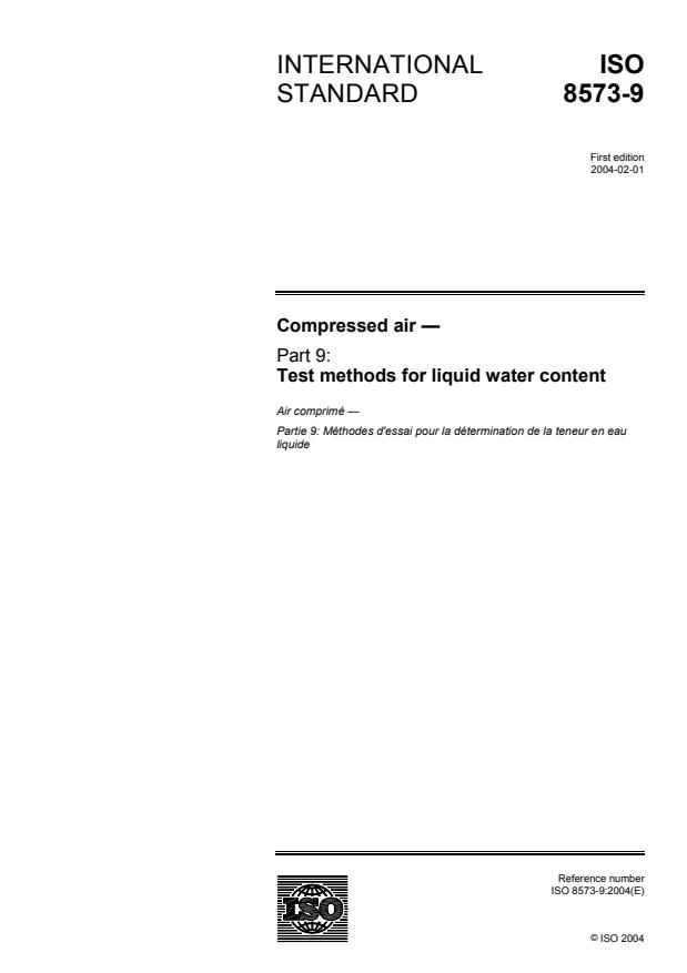 ISO 8573-9:2004 - Compressed air