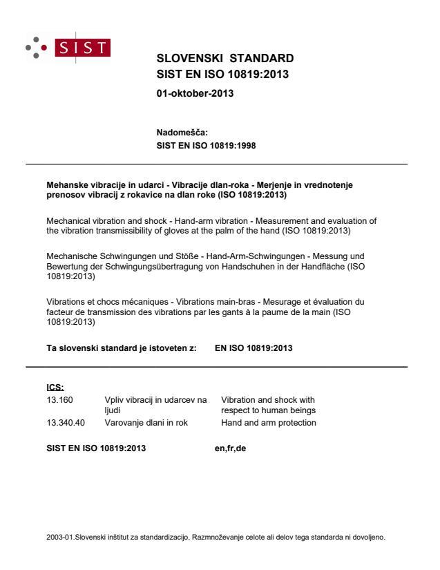 EN ISO 10819:2013