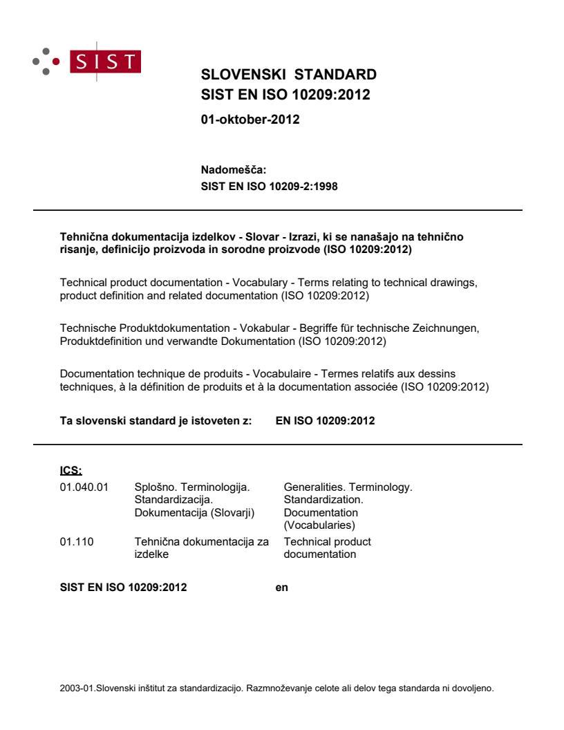 EN ISO 10209:2012