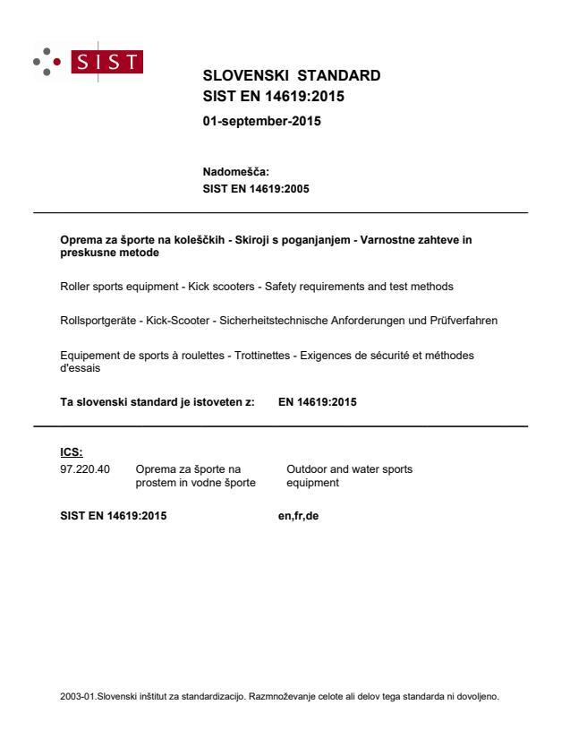 EN 14619:2015 - BARVE na PDF-strani 18, natisnjeno za čitalnico (ČB)