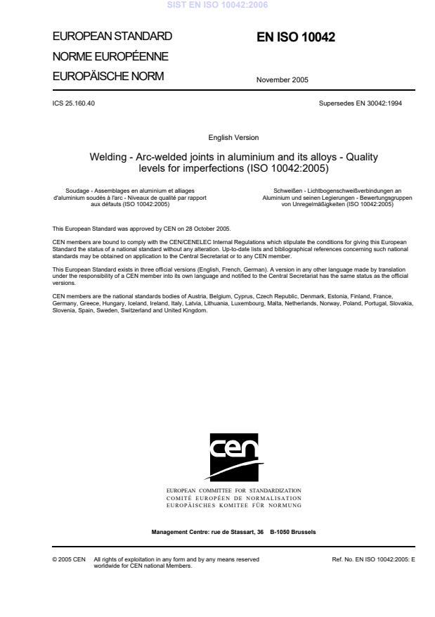EN ISO 10042:2006