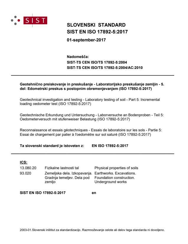 EN ISO 17892-5:2017