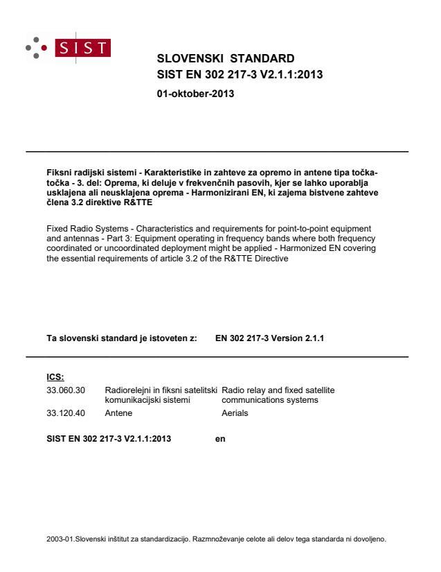 SIST EN 302 217-3 V2.1.1:2013