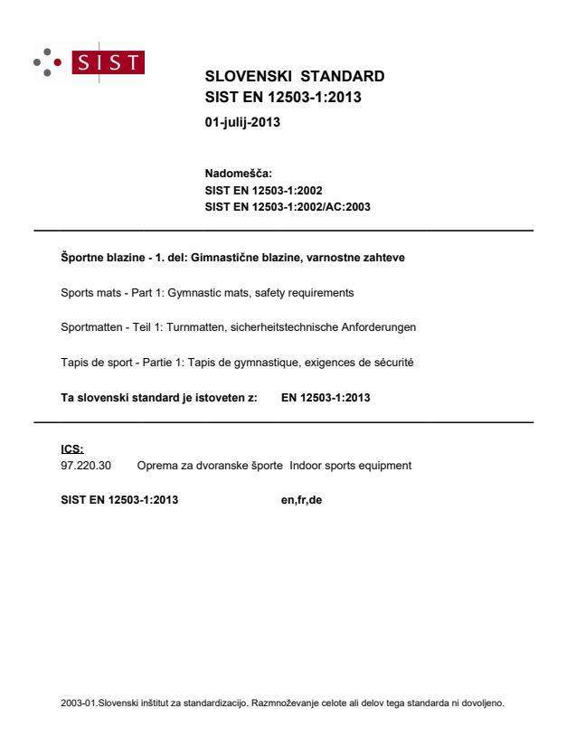 SIST EN 12503-1:2013 - natisnjeno za čitalnico