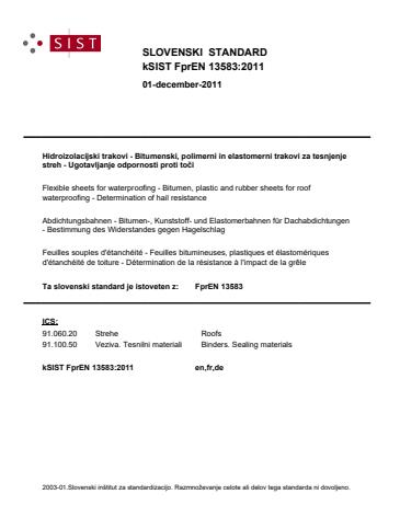 kSIST FprEN 13583:2011