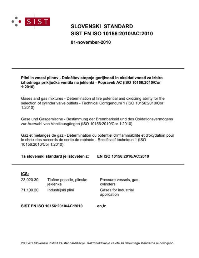SIST EN ISO 10156:2010/AC:2010