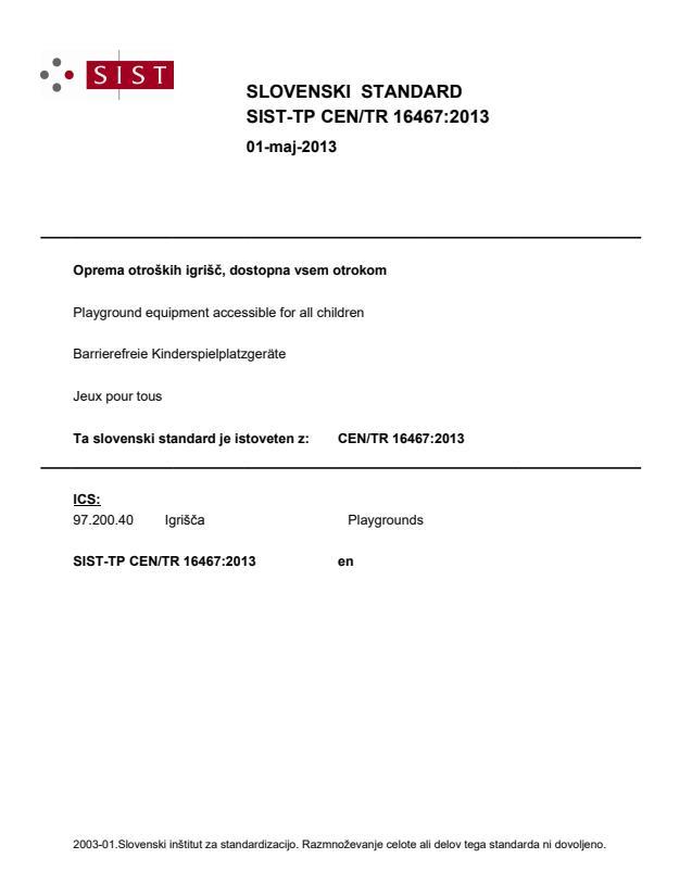 SIST-TP CEN/TR 16467:2013