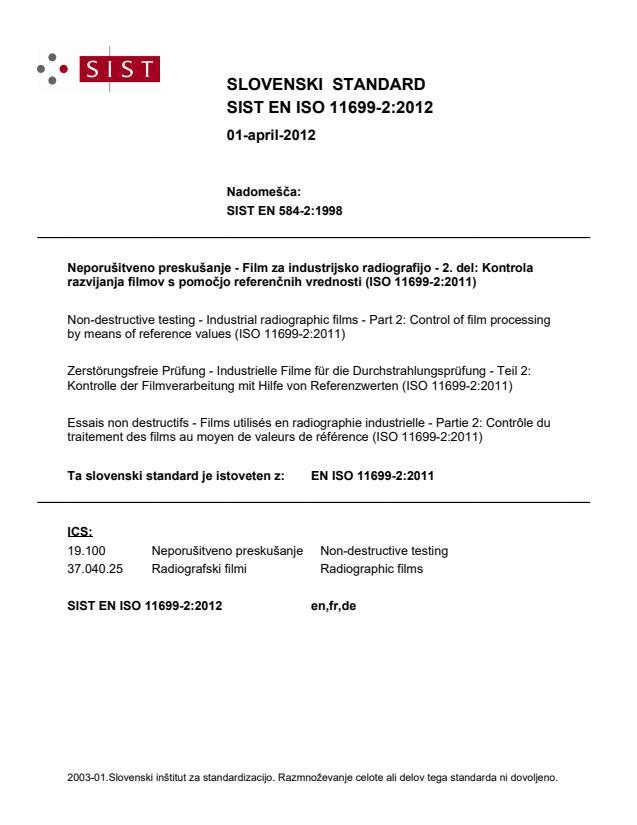 SIST EN ISO 11699-2:2012