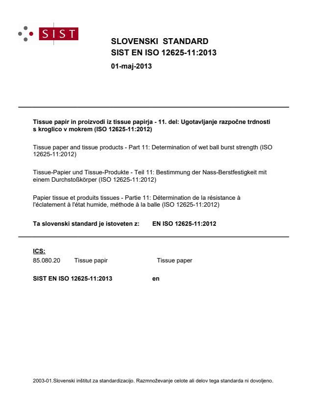 EN ISO 12625-11:2013