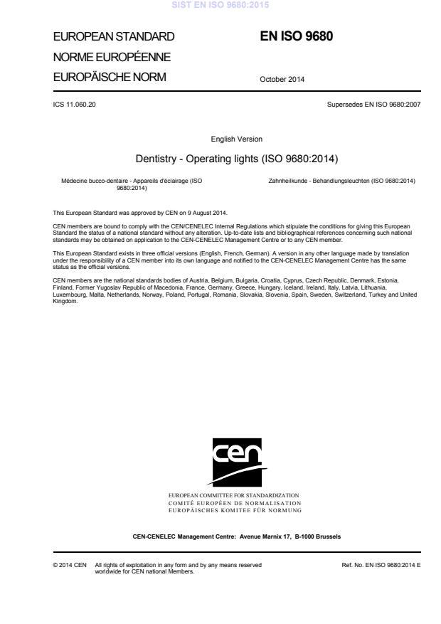 SIST EN ISO 9680:2015